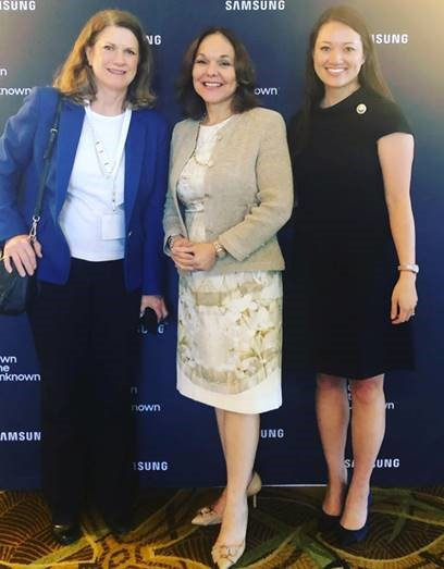 Greenberg Traurig's Kristen Ng and Martha Schoonover with Hilarie Bass, President and Founder, Bass Institute for Diversity & Inclusion and immediate past president of the American Bar Association